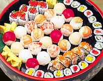 手まり鮨と巻物